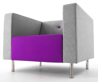 Bonus Contemporary Single Seater Sofa Low View
