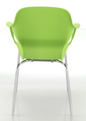 Ludo Poly Chair In Green Rear View
