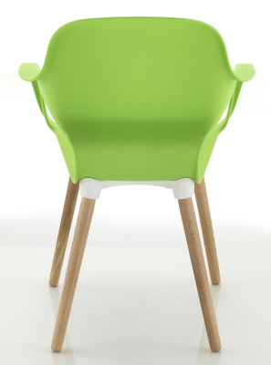 Ludo Green Chair Rear View Beech Legs
