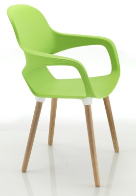 Ludo Chair With Wooden Legs Side Shot