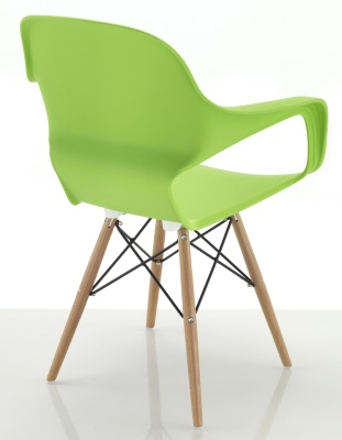 Ludo Chair With Eiffel Legs Rear Angle