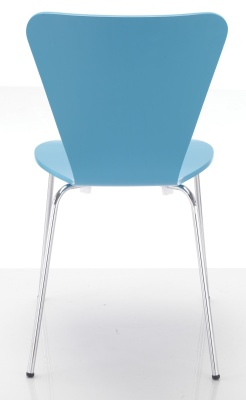 Keeler Blue Cafe Chair Rear View