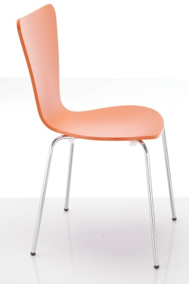 Keeler Orange Plywood Chair Side View