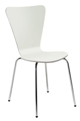 Keeler High Gloss White Plywood Chair