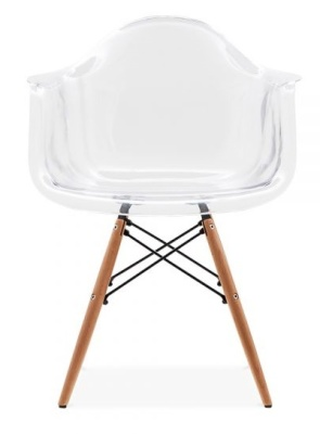 DAW Chair With A Transparent Shell Front Face