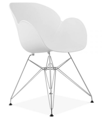 Eames Inspitred Butterfly Chair In White