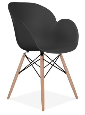 Eames Inspired Butterfly Chair With Wooden Legs Front Angle View