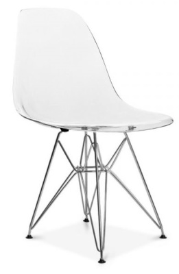 Eames DSR Chair With A Transparent Seat Front Angle