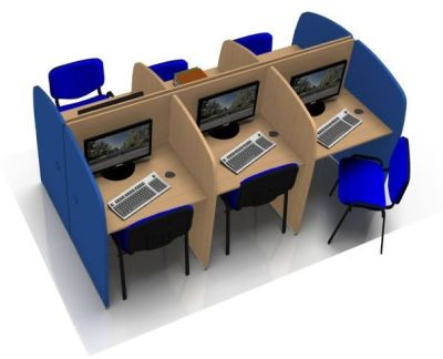 Offimat Six Person Call Centre Desk