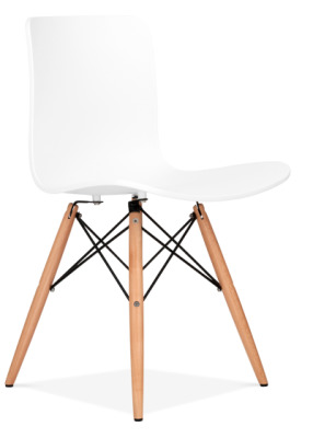 Vibra Eames Inspired Poly Chair In White Front Angle