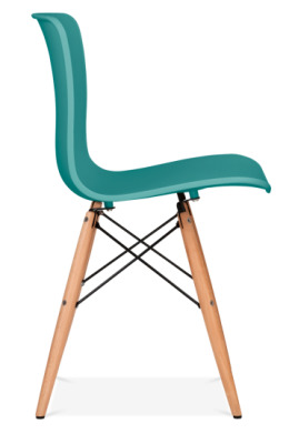 Vibra Poly Chair With A Teal Shell Side View