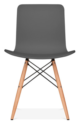 Vibra Eames Inspired Chair With A Dark Grey Shell Front Facing