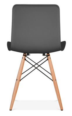 Vibra Eames Inspired Chair With A Dark Grey Shell Rear View