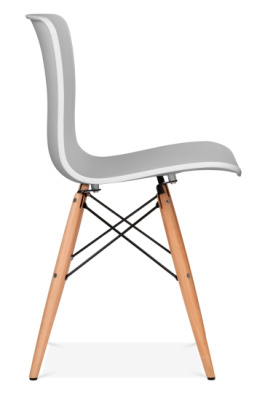 Vibra Chair With Alight Grey Shell Side View
