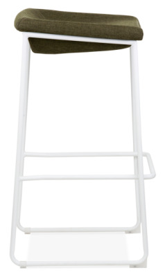 Kitsch High Stool With A White Frame Side View