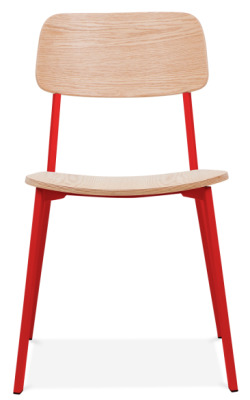 Rica Chair With A Red Frame Front Facing
