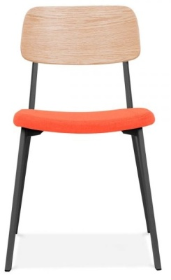 Rica Chair With An Upholstered Seat Front Face View