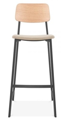 Rica High Stool With An Upholstered Seat Front Face Shot