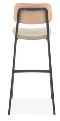 Rica High Stool With An Upholstered Seat Rear View
