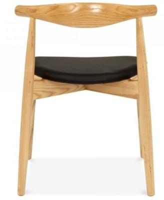 Elbow Chair With A Round Seat Rear View
