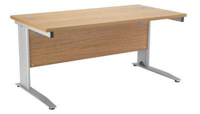Riva Plus Rectangular Desk In Oak