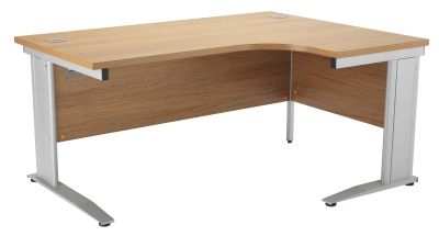 Riva Plus Right Hand Order Desk Oak And Silver