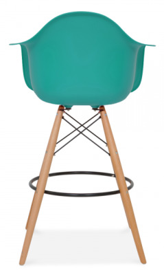 Eames DAW High Gstool With A Teal Seat Rear View