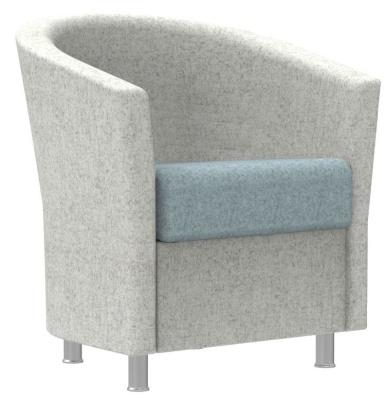 Accolade Tub Chair With Aluminium Feet