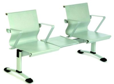 Mandino Metal Waiting Area Seating In Pale Green