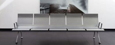 Transition Metal Seating With 5 Steel Seats And Moulded Aluminium Feet
