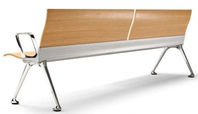 Transtition Wooden Beam Seating With Central Alumium Beam And Arm Rests