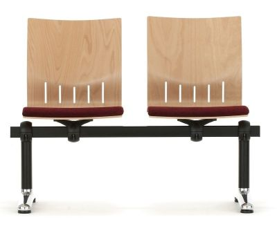 Isis Beam Seating With Wooden Backs With Slot Design And Padded Seats