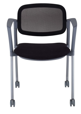 Trapeze Moble Arm Chair With A Mesh Back