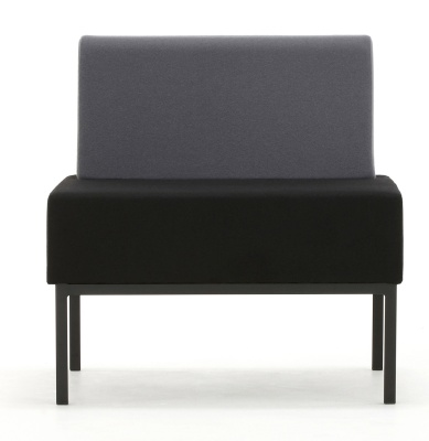 Loiter Single Seater Bench With Back Front Shot