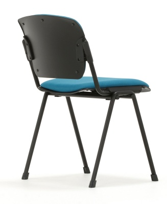 Max Conference Chair Black Frame Trear Angle View