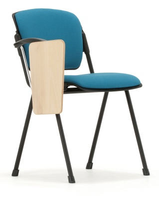 Max Conference Chair With A Writing Tablet Front Angle