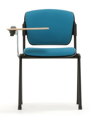 Max Conference Chair With A Writing Tablet Face View