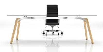 Gravity Glass Executive Desk Front Shot