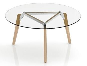 Gravity Circular Glass Table