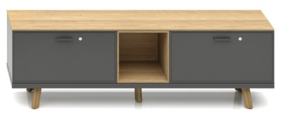 Gravity Executive Low Cupboard With An Open Space