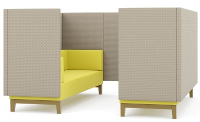 Fence Six Seater Booth
