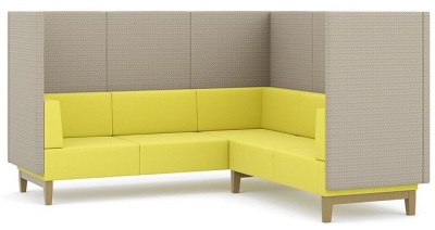 Fence 5 Seater L Shaped Sofa With Extra High Back