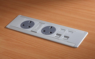 Open-desk-insert-power-data-modules