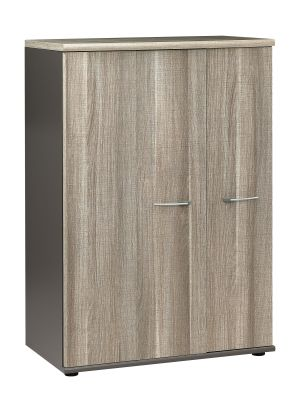 Jazz Extra Wide Tall Cupboard With Folding Door Snd Drift Oak Fronts