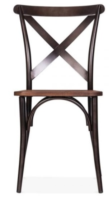 Cross Back Steel Chair Front Face
