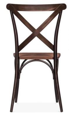 Cross Back Steel Chair Rear View