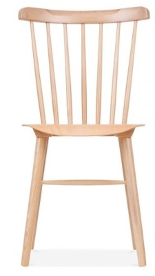Eton Wooden Dining Chair Natural Finish Front Face View