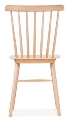 Eton Wooden Dining Chair Natural Finish Rear View