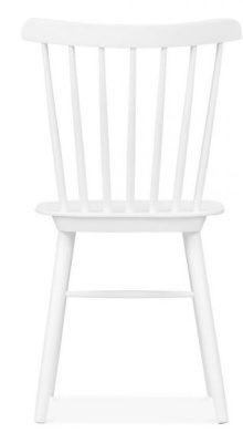 Eton Fining Chair In White Rear View