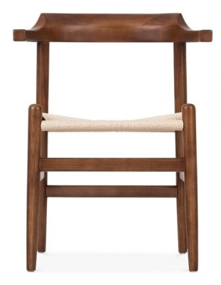 Hans J Wegner Pp68 Chair In A Dark Wood Finish Front Shot